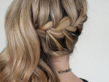 Peinado trenza raiz lado